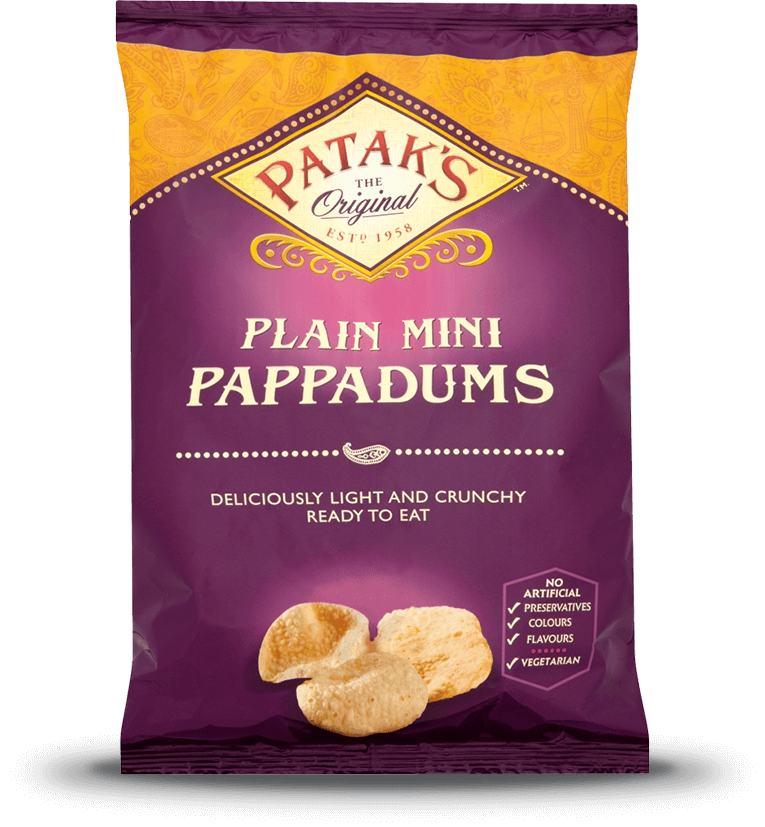 Mini Pappadums Plain Patak S Indian Curry Products And