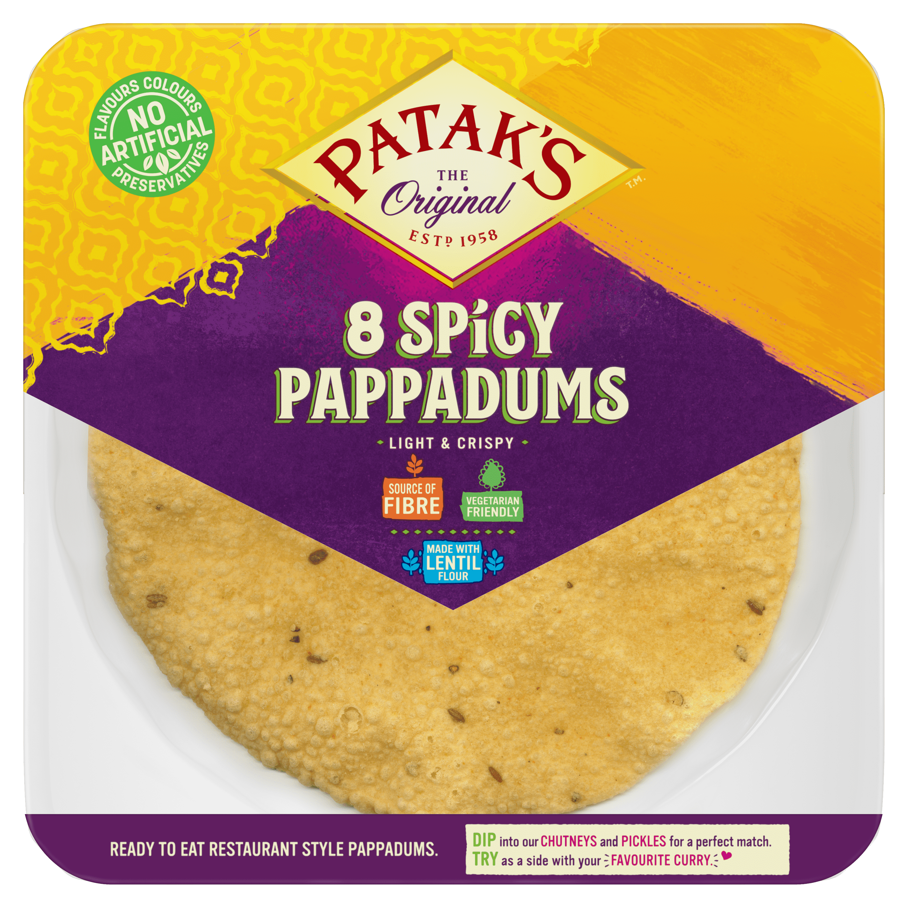 Spicy Ready to Eat Pappadums